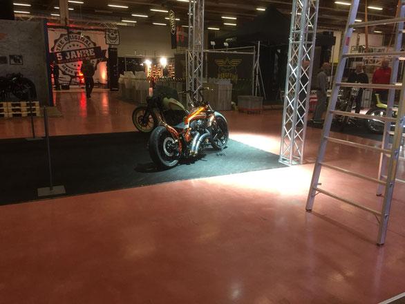 Harley Davidson Customize MS StreetParts Candy Chop glitter bike Custom Bike Show 2018