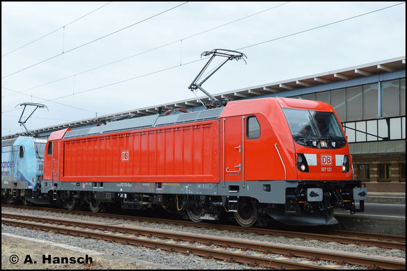 Am 16. September 2017 fand in Zwickau Hbf. der Bahntag statt. Unter anderem war dort 187 131-8 ausgestellt
