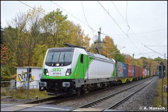 Am 32. Oktober 2020 trägt die Lok das SETG-typische Design. An gleicher Stelle konnte ich sie Lok erneut fotografieren