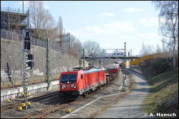 187 161-5 hat am 18. März 2020 mit dem EZ 51716 fast Chemnitz Hbf. erreicht