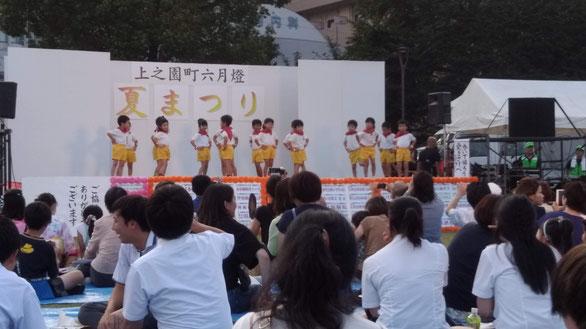 ダンス発表の写真
