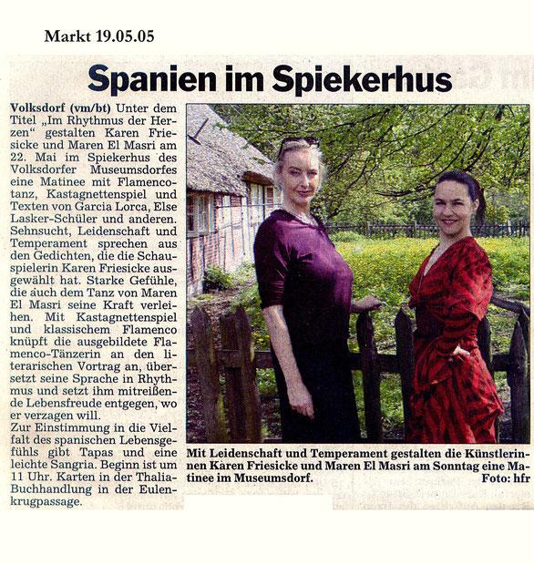 Maren El Masri, Flamencotanz und Kastagnettenkonzert