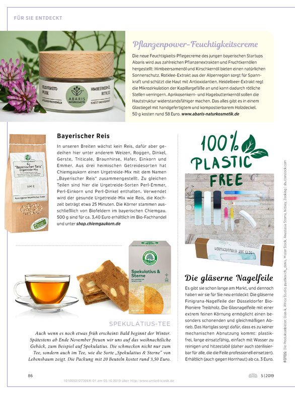 ABARIS Naturkosmetik - Pflanzenpower-Feuchtigkeitscreme - im BIO Magazin