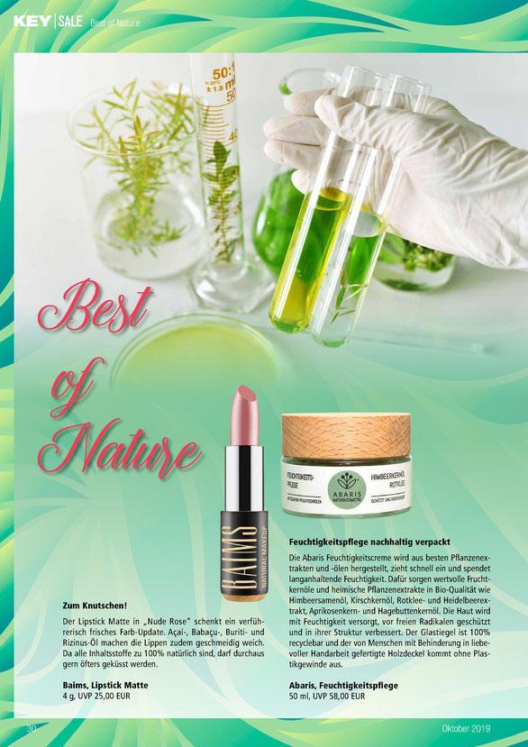 ABARIS Naturkosmetik - Feuchtigkeitspflege nachhaltig verpackt - imKey Sale Fachmagazin