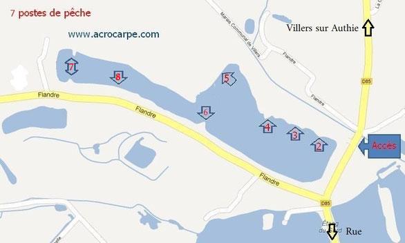 acrocarpe.com étang de pêche à la carpe no-kill Somme Pas de Calais
