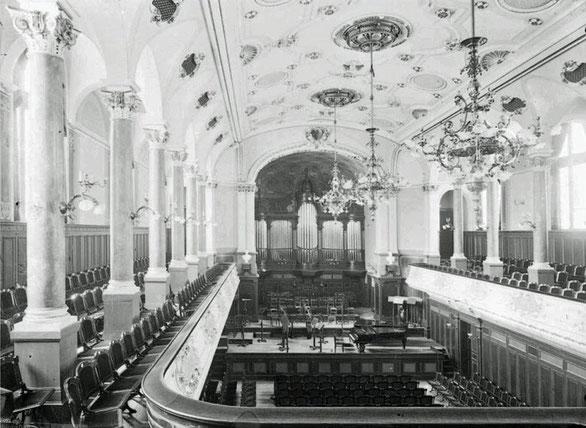 Vortragssaal der HMT Leipzig um 1900