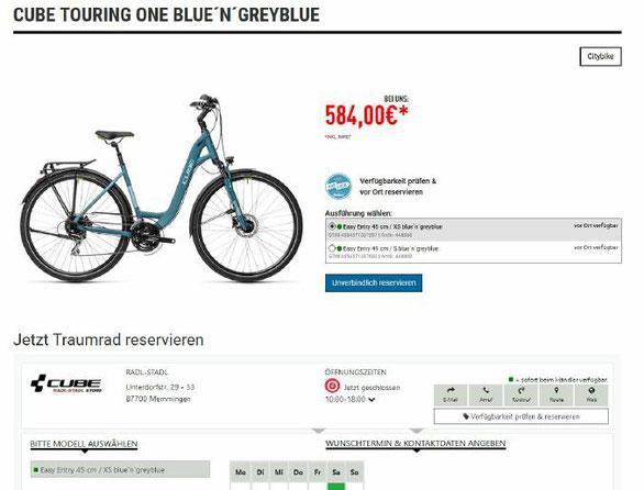 Der Onlinekatalog BikeInfo bietet nun auch die Möglichkeit, sein Traumrad reservieren zu können