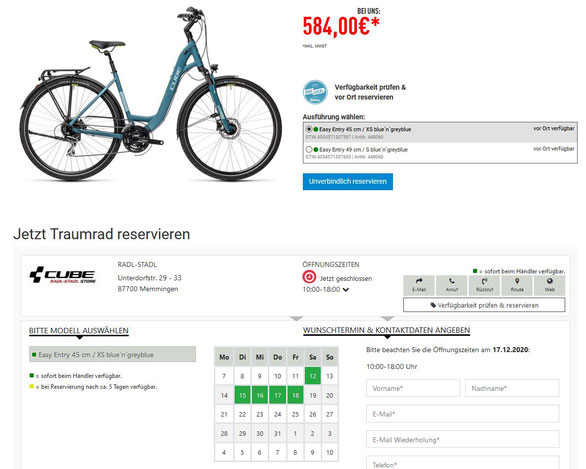 Auf BikeInfo lassen sich alle Vorgänge einstellen. Als Händler wird man dadurch entlastet. (c) Bidex