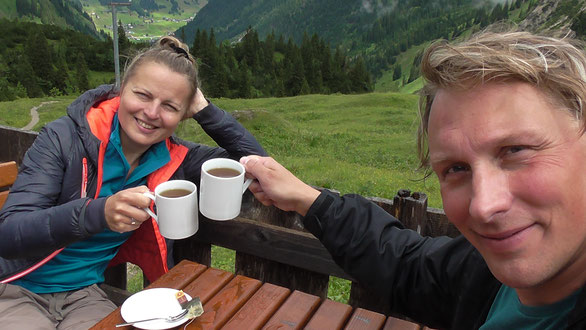 Kristina Stalnionytė ir Andrius Biziulevičius Austrijos Alpėse