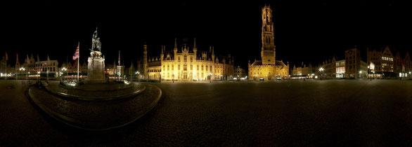 360° Panorama Marktplatz Brügge, Belgien