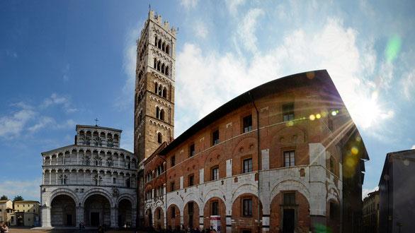 Freihand Panorama, Kirche Siena, Toskana