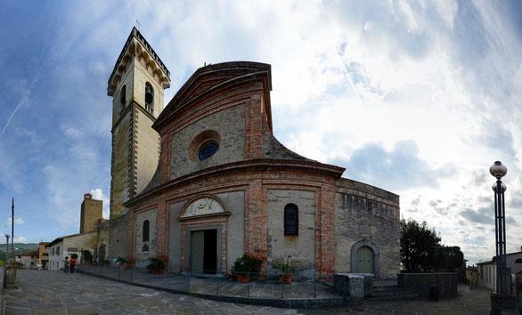 Freihand Panorama, Chiesa di Leonardo da Vinci, Vinci, Toskana