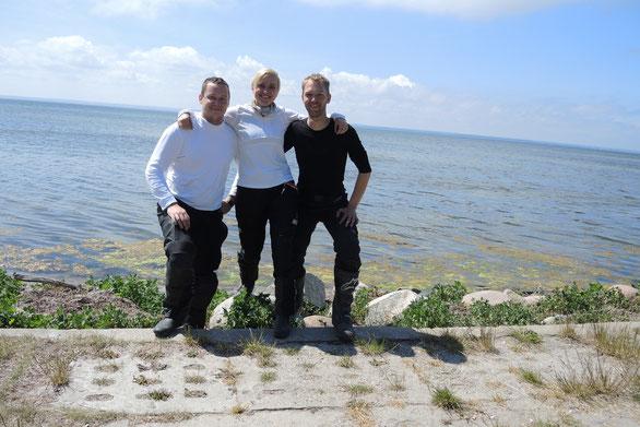 Das Diesel Trio auf der Landzunge Hel
