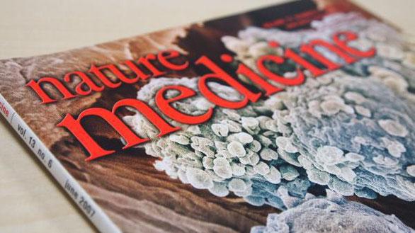 2007年に水素論文が掲載された米国医学誌ネイチャーメディスンの表紙