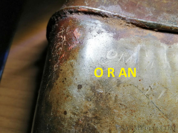 """Dettaglio scritta """"oran"""""""