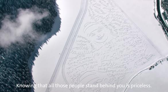 ファンの想い届け!スイスコムのスキー選手に向けた「雪の応援メッセージ」