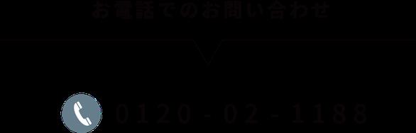 お電話でのお問い合わせ→0120-02-1188