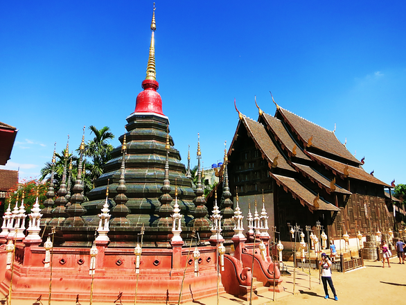 Tempelgelände des Wat Phan Tao