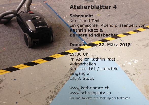 Flyer zum Anlass Atelierblätter IV