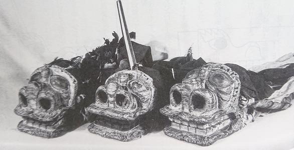 初代隠居獅子 ※『台町獅子』(戦後50周年記念靖国神社奉納舞記念誌)より