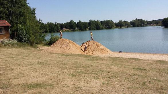 Neuer Sand für den Wißmarer See