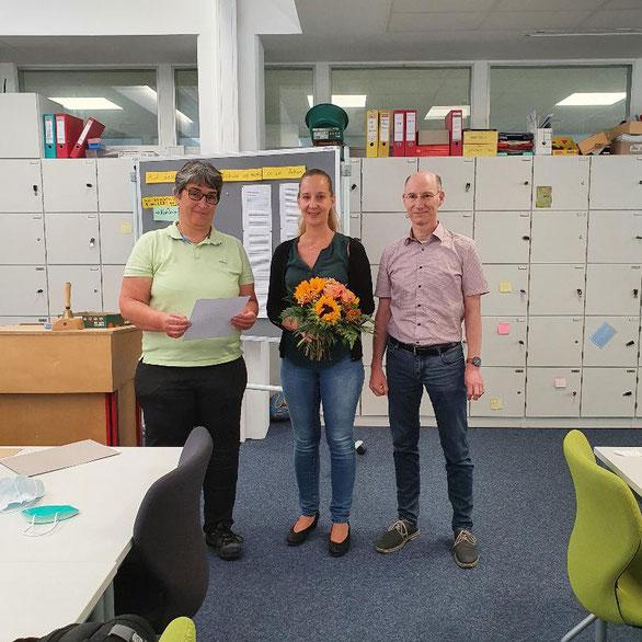 Schulleiterin Andrea Fürle, 2. Konrektorin Nadja Grau und 1. Konrektor Christian Strauch