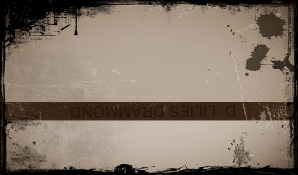 Ein Name, falsch herum (auf Mauer), in Stein gemeißelt. Die Rache einer betrogenen, toten Ehefrau?