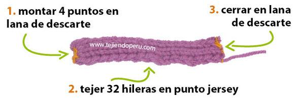 Conjunto De Bufanda Y Gorro De Eslabones De Cadena Tejiendo Perú
