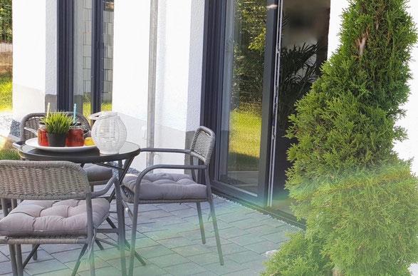 Ferienwohnung Heidi für bis zu 4 Personen mit eigenem Garten und Terrasse im Saarland