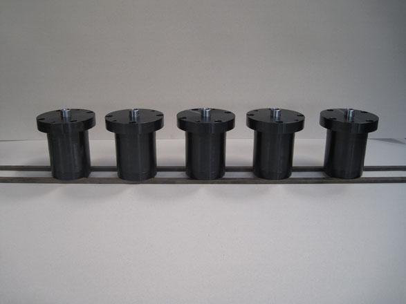Cilindri oleodinamici speciali, semplice effetto, ritorno a molla, per bloccaggio stampi, kompaut, italia, italy, marnate, varese,