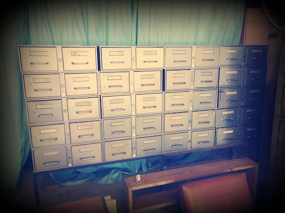 Meuble de métier à casiers