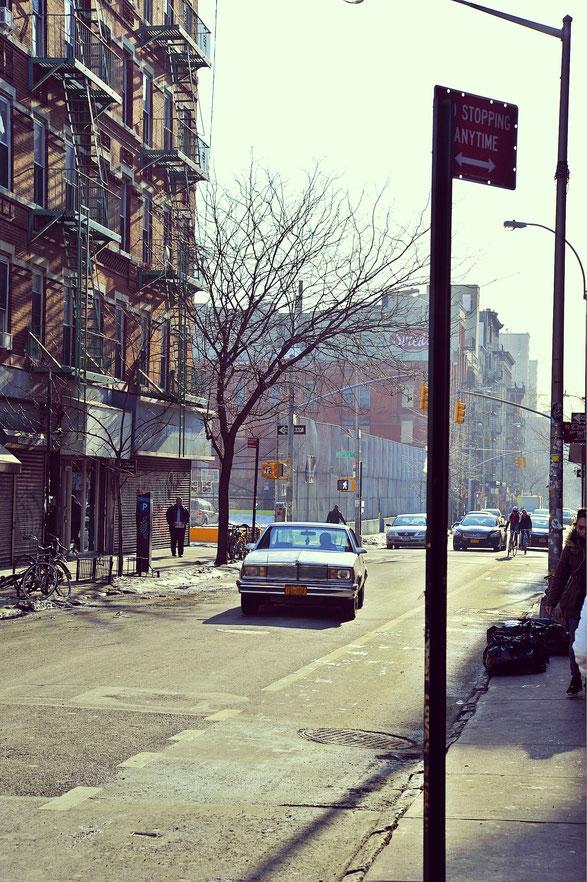 Im südlichen East Village von New York.