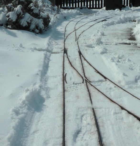 Weiche der Gartenbahn 5 Zoll in Mörbisch am See, Abzweigradius 3.8 m