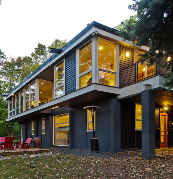 Fredrickson Nagle House: Energy Efficient windows help provide daylighting and reduces energy use in the home.