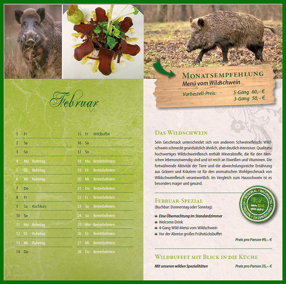Slow Food Weinachten Wildfleisch