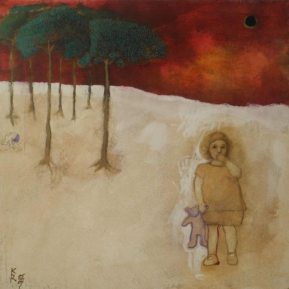 Lilith Dunkelmond I, 2009, 100 x 100 cm