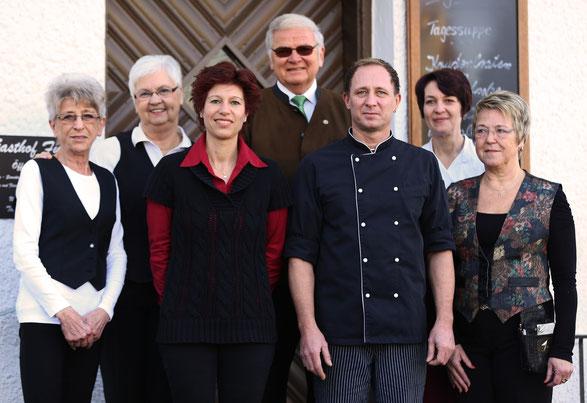 Das Team des Gasthofs Fuchs um Inhaber Matthias Fuchs