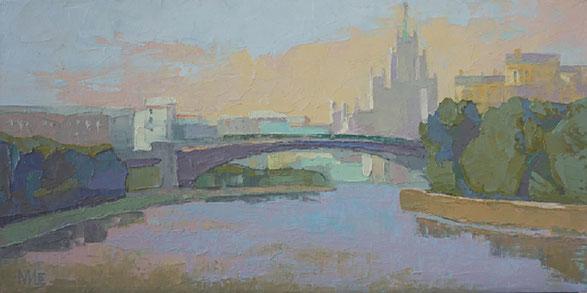 Москва, виды Москвы, кремлёвские башни, Мария Богачева, дождь, Большой Краснохолмский мост,городской пейзаж