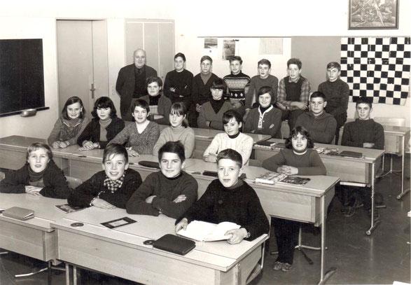 Die Sekundarschule Wittnau im Jahr 1967 (Lehrer: Gottfried Müller-Weiss)
