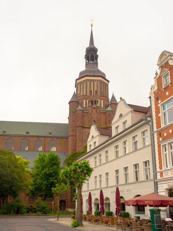 Die Marienkirche im Stadtzentrum von Stralsund