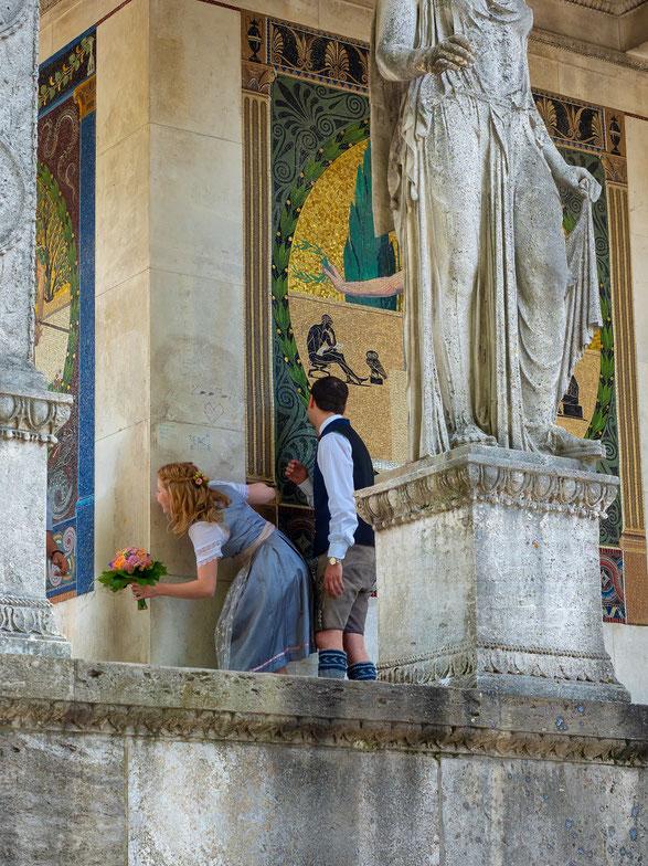 Hochzeitsshooting am Friedensengel.