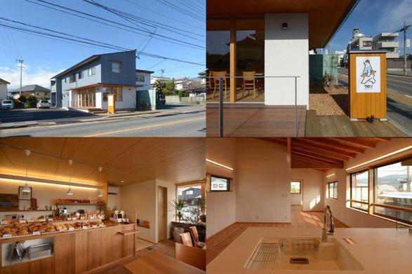 クロリBREAD&LIFE 長野県 松本市 建築家 news設計室 丸山和男 パン屋 クロリ 店舗併用住宅
