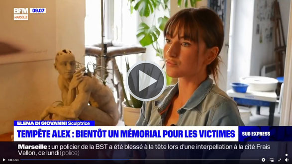 Interview Elena Di Giovanni sculpture monument mémoriel memorial tende hommage tempete alex bronze art