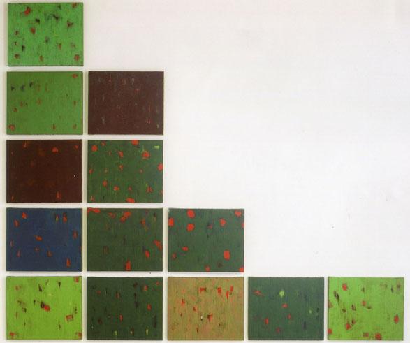 峠P.9(M川~栗の木の下.Ⅱ)         キャンバスに油彩    38×45.5cm〈×13〉