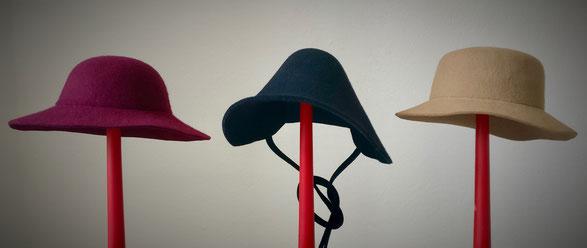 Mädchenhüte, Damenhüte