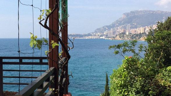 レストラン「Etoile de Mer のテラスの景色。