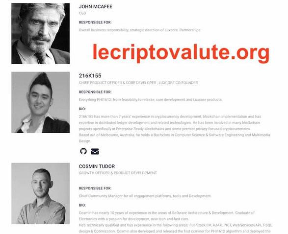 squadra team blockchain luxcore luxcoin