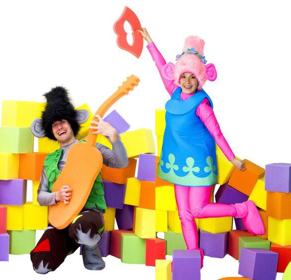 Аниматоры Тролли Розочка и Цветан на детский праздник и день рождения ребенка