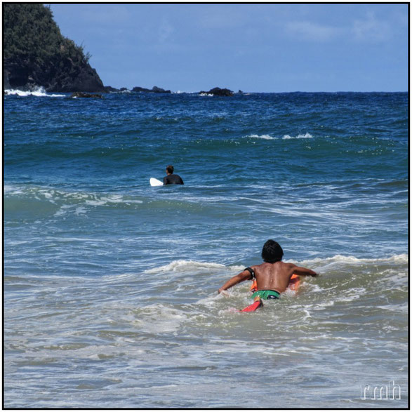 waiting for the surf, Hana, Maui, HI