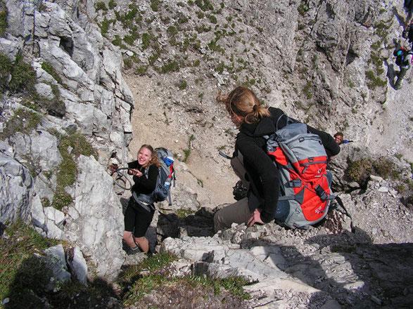 Projekttage Juli 2007: Am Freiungen-Höhenweg (Erlspitzgruppe, westliches Karwendel)